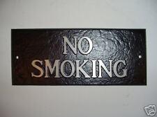 Cast Aluminum No Smoking Sign Business Or Restaurant