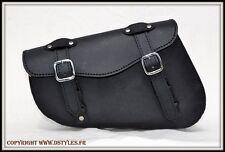 Sacoche latérale de cadre Harley Sportster / solo leather bag sportster - NEUF