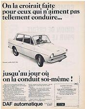 PUBLICITE ADVERTISING 054 1965 DAF automatique voiture automobile