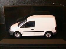 VW VOLKSWAGEN CADDY VAN TOLE 2005 WHITE MINICHAMPS 1/43 BLANC WEISS BIANCA