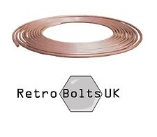 "1/4"" Copper Brake Pipe Tubing 25ft Roll"