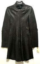 Jarbo Black Long Leather Jacket Trench Biker Matrix Sz 36 Leverage Wardrobe