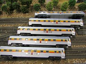 THE GHAN x5 Lima large emb. colourfull carriages ex condition KDs