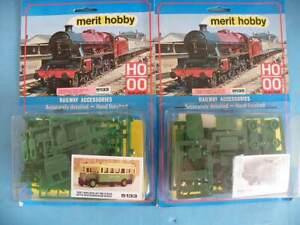 2 Merit OO/HO Plastic 1920s Vehicle Kits Maudsley ML3 Bus + Thornycroft 4T Lorry