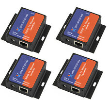 4 Pcs USR-TCP232-302 Tiny Size Serial RS232 to Ethernet TCP IP Server Module