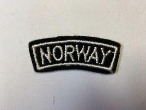 K0344 WW2 Free Norwegian Military Forces Shoulder Tab Norway C10B1