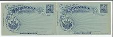 El Salvador 3x Antwortkarten** 1897,  post. sta. reply cards