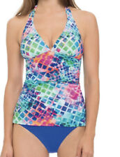 New listing NEW GOTTEX PROFILE swimsuit SONGBIRD tankini swim top pastel ruched size 8