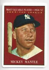 Mickey Mantle 1996 Danbury Mint Porcelain 1961 Reprint MVP Card