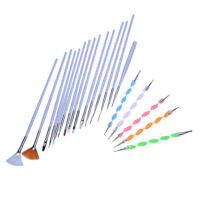 20pcs Nail Art Design Set Dotting Painting Polish Brush Pen Tools K7M1