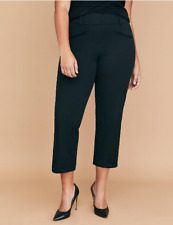 501487cb25a0f Lane Bryant Allie Black Smart Stretch Slim Crop Pants 22 22w 2x 3x