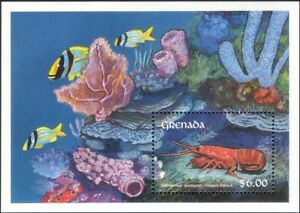 Grenada 1990 Lobsters/Crabs/Crustaceans/Marine/Animals/Wildlife 1v  m/s (s639e)