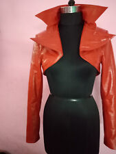 Women's100%Genuine Lambskin Leather Crop Moto Bolero Shrug Biker Jacket Slim-fit