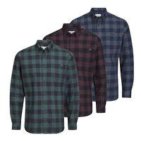JACK & JONES Wilhelm Mens Check Shirt Long Sleeve Collared Cotton Casual Shirt