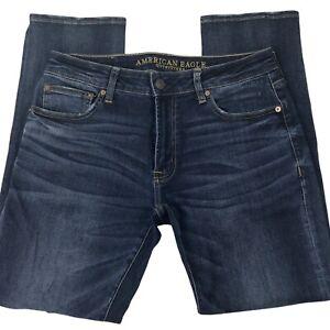 American Eagle Outfitters Mens Slim Straight Leg Medium Blue Denim Jeans 31X30
