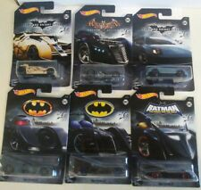 Hot Wheels 2018 DC Comics Batman Batmobiles Complete Set of 6
