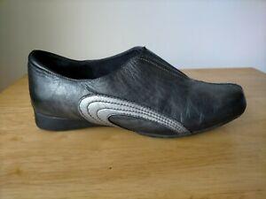 Ziera Black & Grey metalic comfort shoes Size 39 / 8  Soft