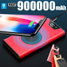 900000mAh Power Bank Qi Wireless Charger External Backup Protable Battery NEW