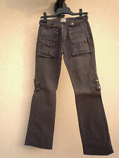 """TRES BEAU JEAN GRIS TAUPE """"USED JEANS"""" Taille 34 - QUASI NEUF !"""