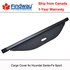 Black Cargo Cover Anti-Theft Shield For 2013-2014 Hyundai Santa-Fe Sport