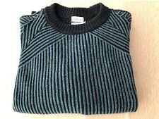 PAUL SMITH Men's Chunky Cashmere & Wool Striped Two Toned Pull Over Sweater Sz L