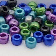 100 perles poney perle cool noir argent bleu vert violet LOOM BAND Cheveux Mannequin