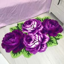 ROSE FLOCKING MODERN MAT RUGS FLOOR CARPET AREA LIVING ROOM HOME SOFT NON SLIP