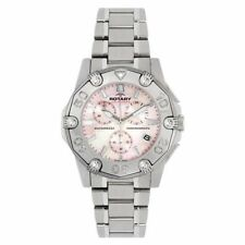 Women's Adult Rotary Silver Case Wristwatches
