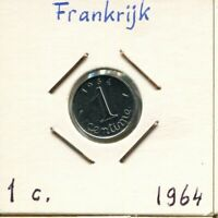 1 CENTIME 1964 FRANCE French Coin #AK968GW