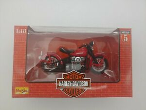1998 Maisto Harley Davidson Series 5 1948 FL PANHEAD 1:18 Motorcycle NEW
