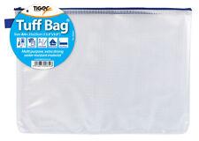 5x Foolscap A4 + Tuff Bag scuola waterproofstorage forte caso pencilpen zipwallet
