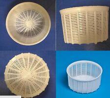 5 Ricottiere fuscelle fustella cesto forma plastica per ricotta formaggio kg 1