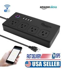 WiFi Smart Power Strip 4 USB & 4 AC Outlets Works with Alexa & Google Home
