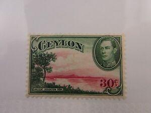 1938 Ceylon SC #285 ANCIENT IRRIGATION TANK  MH stamp