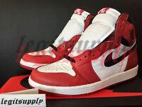 Nike Air Jordan 1 I Retro High OG Chicago 6Y 8 9.5 11 White Red Black 555088-101