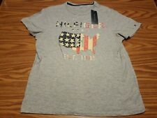 NWT Tommy Hilfiger Men's T-Shirt Crew Neck Graphic US Tee Short Sleeve Flag