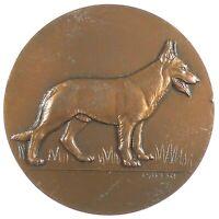France alsatian German sherpherd  DOG AWARD bronze 50mm