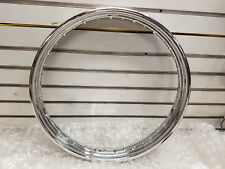 2.15x21 Drop Center 40 spoke Chrome Rim Wheel Harley Sportster Softail Dyna NEW!