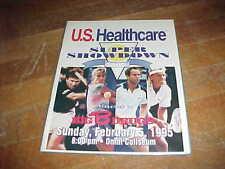 1995 Super Showdown Tennis Program Jimmy Connors John McEnroe Chris Evert Cover