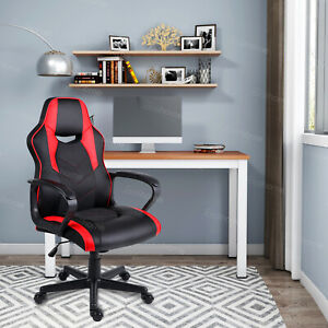 Computer PC Desk Chair Gaming Chair Racing Office Chair Swivel ChairBlack&Red