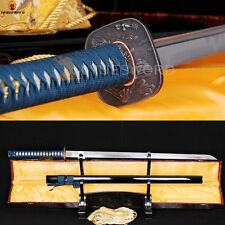 Japanese Samurai Ninja Sword 1060 Carbon Steel Full Tang Straight Blade Sharp