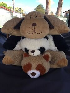 Snuggle Puppy & Comfy Panda PILLOW PETS  + Red Panda ANIMALLOW - Large