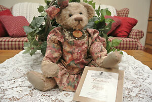 "1992 18"" ASHTON DRAKE GALLERY TEDDY BEAR~Yesterdays Bears. Constance. COA. 1992"