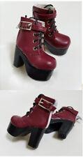 1/4 bjd MSD MDD doll red color platform short boots shoes dollfie dream Luts