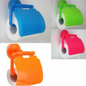 Bathroom Plastic Suction Cup Toilet Tissue Roll Paper Holder Kandy Color