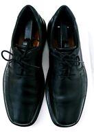 Ecco Men Shoe Helsinki Bicycle Toe Tie Size 8 - 8.5 EUR 42 Black Oxford