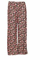 SEXY WOMEN LADIES FLORAL PRINT PALAZZO TROUSERS LEGGINGS SIZE 8-10,12-14,16-18