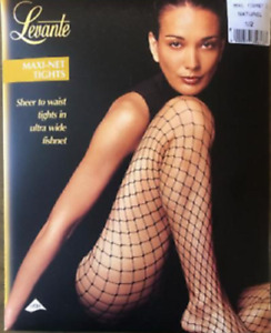 LEVANTE Maxi-Net Tights ultra wide fishnet stockings Nude / Naturel sz 1/2 S/M