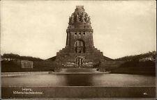 Leipzig Sachsen AK 1930 Völkerschlachtdenkmal Stempel Pelzfach Jagd Ausstellung
