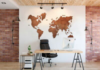 Travel World Map Home Decor Wood World Map Large Wall Art M Size